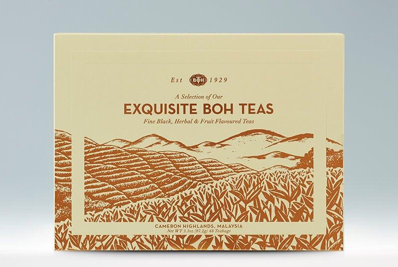 Exquisite Boh Tea 6 Assorted Tea Variety Gift Set